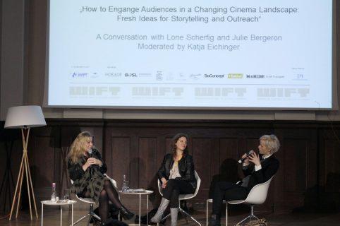 Lone Scherfig, Julie Bergeron, Katja Eichinger auf der WIFT Bühne